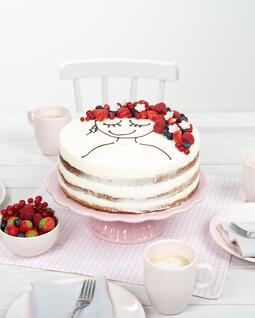 Berry Face Cake