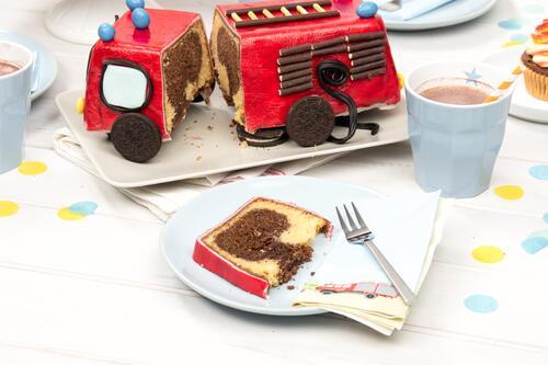 Anleitung backen auto kuchen Snickers
