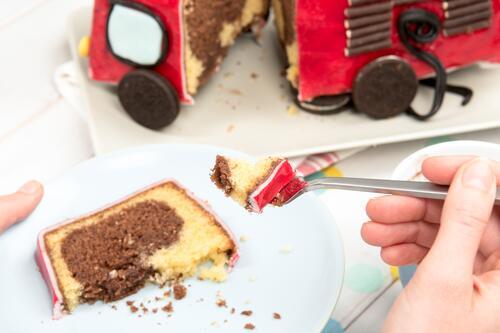 Basteln Feuerwehrauto Kuchen Feuerwehrauto Kuchen Rezept Von