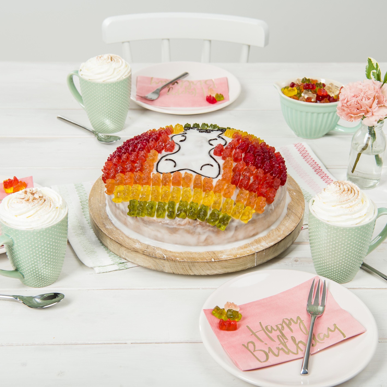 Gummibären Kuchen Rezept Von Backende