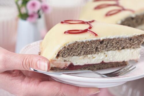 Mohn Marzipan Torte Rezept Von Backen De